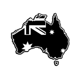 Australian map design vector