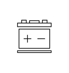 Battery car icon can be used for web logo mobile vector