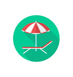 Beach chair icon sign symbol vector