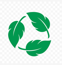 biodegradable icon recyclable and plastic free vector image