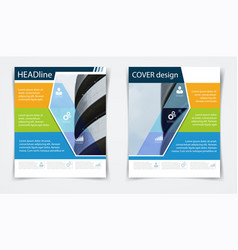 brochure flyer template annual report abstract vector image