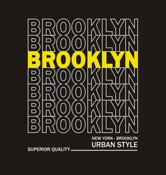 brooklyn vector image