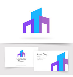 building construction abstract logo vector image