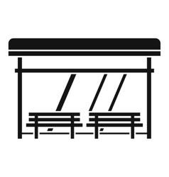 Bus stop icon simple style vector image vector image