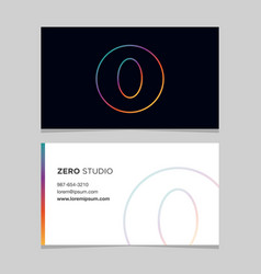 business-card-number-0 vector image