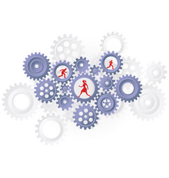business concept silhouettes teamwork vector image