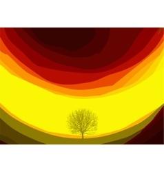 Colorful abstract background with tree vector