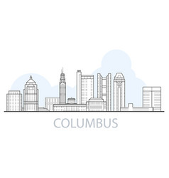columbus city skyline - cityscape ohio vector image