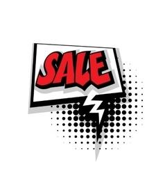 Comic text sale pop art bubble vector