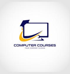 Computer courses logo sign symbol icon vector