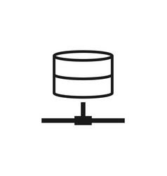 computer network icon design template vector image