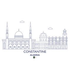 Constantine city skyline vector