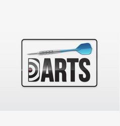 Darts game background vector