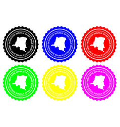 Democratic republic of the congo rubber stamp vector