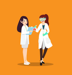 doctor and scientist in different character on vector image