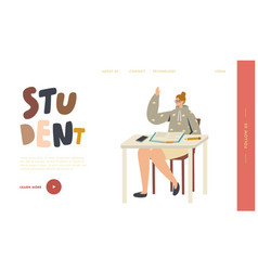 education in university landing page template vector image