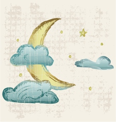 Evening crescent vector image vector image