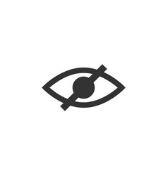 Eye blind icon graphic design template vector