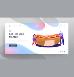 Fastfood festival event menu website landing page vector