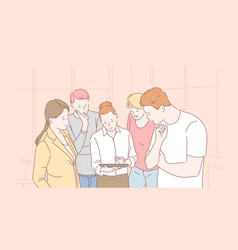 firm staff cooperation productive teamwork vector image