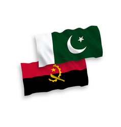 Flags pakistan and angola on a white background vector