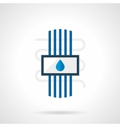 Flat style water heated floor icon vector image
