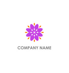 flower nature geometry beauty logo vector image
