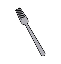 fork cutlery eating utensil kitchen icon vector image