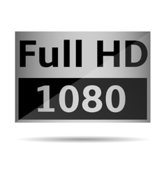 Full HD icon vector image