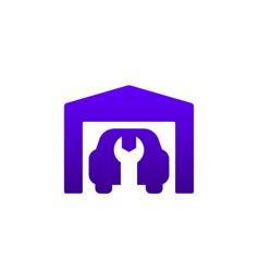 Garage car repair service icon vector