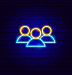 Human resources neon sign vector