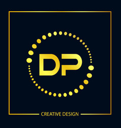 Initial letter dp logo template design vector