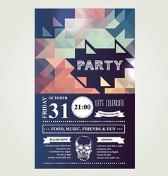 Invitation disco partyTypography vector