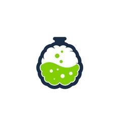 lab brain logo icon design vector image
