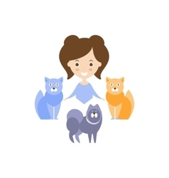 Many Cats As Personal Happiness Idea vector