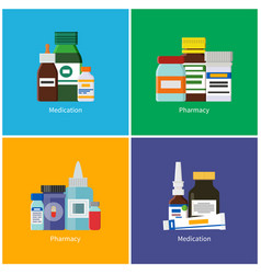 medication and pharmacy vector image