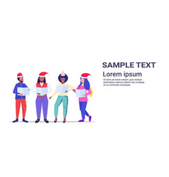 mix race people holding sheet books and giving vector image