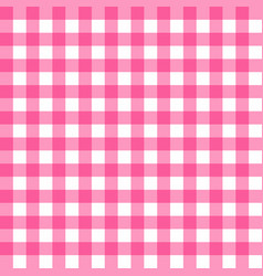 picnic table cloth seamless pattern pink vector image