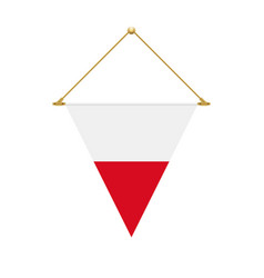 polish triangle flag hanging vector image