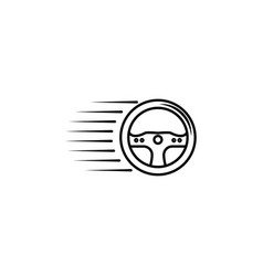 racing steering wheel icon element of racing for vector image