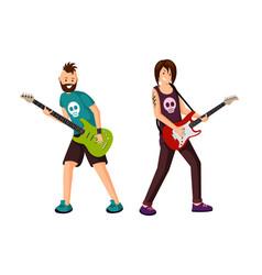 rock stars flat vector image