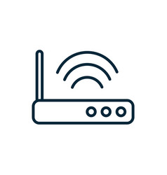 router technology signal internet things line vector image