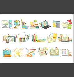 School education and studies related vector