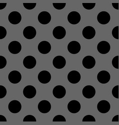 seamless dark pattern with black polka dots vector image