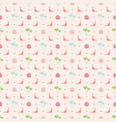 seamless pattern on valentines day texture for vector image