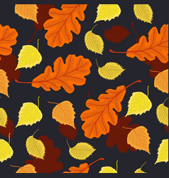 seamless pattern with autumn leaves graphics vector image