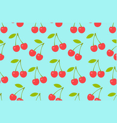 seamless pattern with red cherry vector image