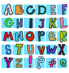 set of alphabet vector image