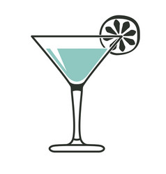 simple cocktail glass vector image