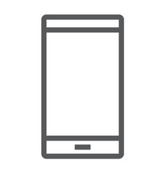 smartphone line icon electronic and device vector image